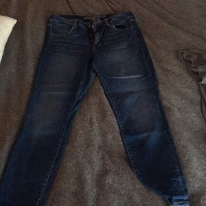 American Eagle jeans with minor distressing